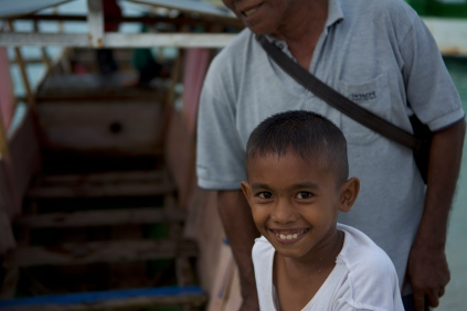 A smile from the beach boy of bokori island