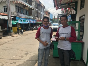 Mr Doni and Mr Yuyu on Merapi Pontianak Street