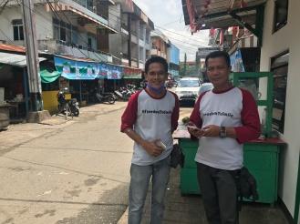 Mr Doni and Mr Yuyu on Merapi Pontianak Street